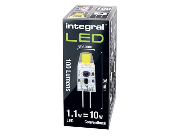 Ledlamp Integral G4 12V 1.1W 2700K warm wit licht 100lumen 1