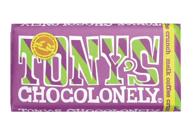 Chocolade Tony's Chocolonely reep 180gr melk coffee crunch 1