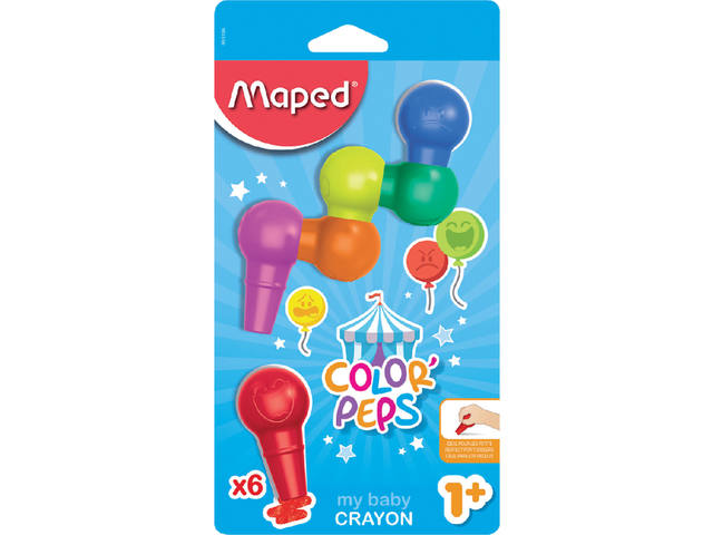 Waskrijt Maped baby Early Aged blister à 6 stuks assorti 1