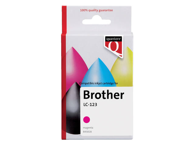 Inkcartridge Quantore Brother LC-123 rood 1