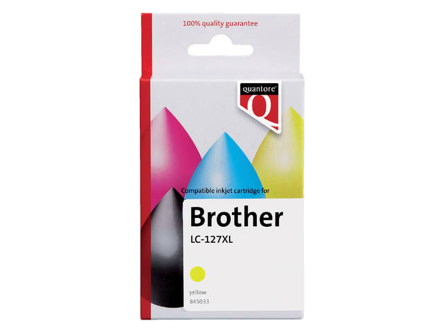 Inkcartridge Quantore Brother LC-125XL geel 1