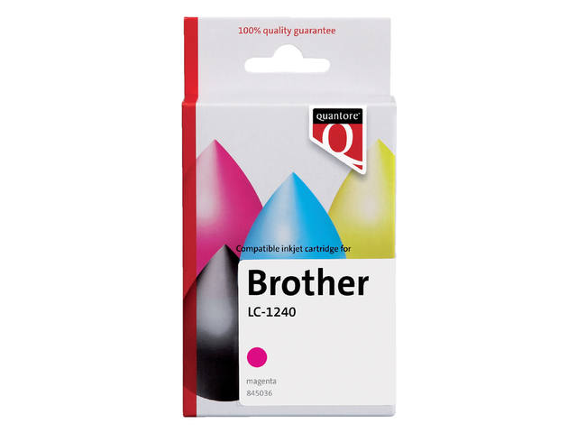 Inktcartridge Quantore Brother LC-1240 rood 1