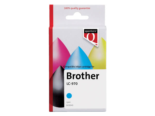 Inktcartridge Quantore Brother LC-970 blauw 1
