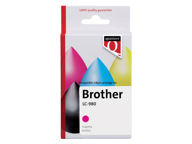 Inkcartridge Quantore Brother LC-980 rood 1