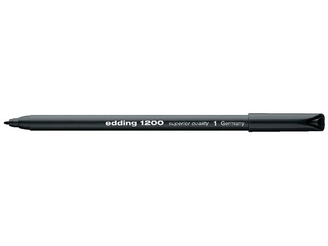 Fineliner edding 1200 zwart 0.5-1mm 1