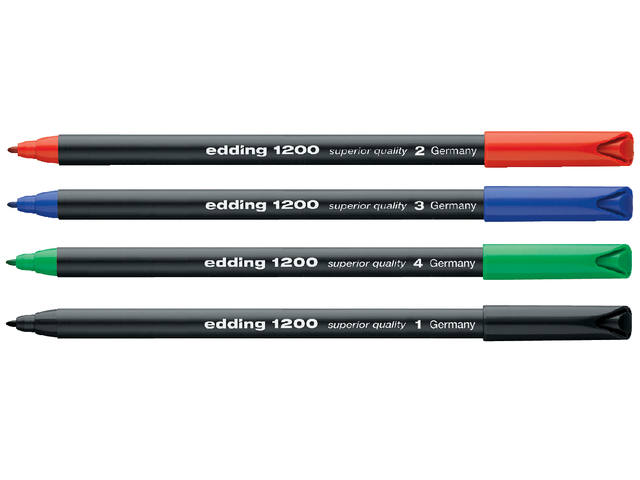 Fineliner edding 1200 zwart 0.5-1mm 2