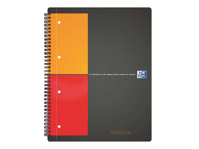 Spiraalblok Oxford International Notebook A4+ ruit 5mm 1