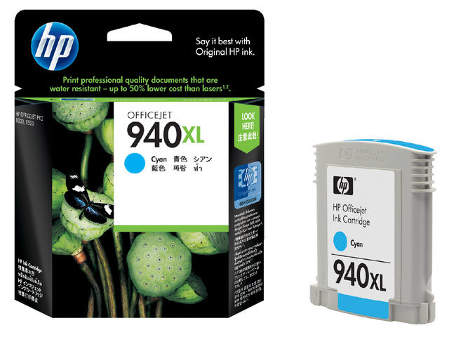 Inkcartridge HP C4907AE 940XL blauw HC 1