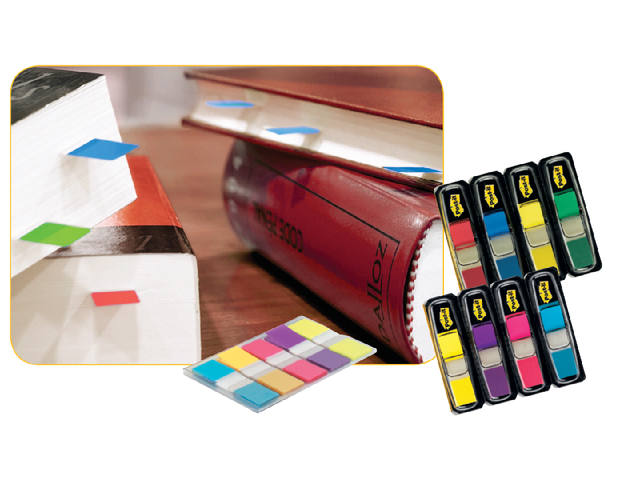 Indextabs 3M Post-it 6835CBP smal assorti 3+2 gratis 2