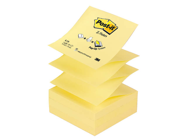Memoblok 3M Post-it Z-Note R330 76x76mm geel 1