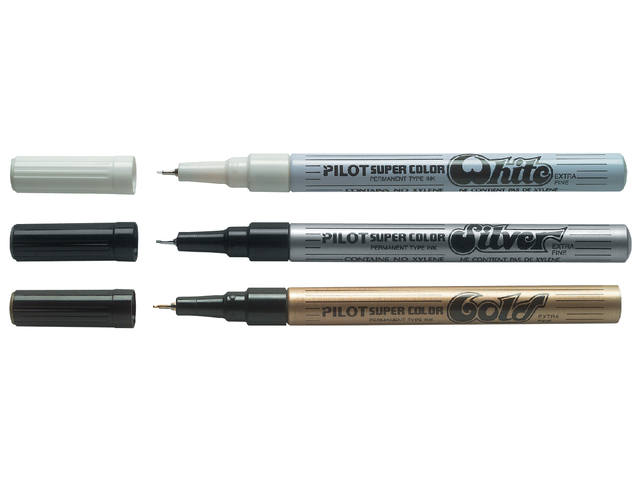 Fineliner PILOT Super wit extra fijn 0.5mm 2