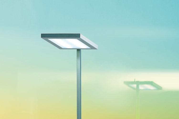 het innovatieve lichtmanagementsysteem brengt de dynamiek van het natuurlijk daglicht binnen het gebouw en breidt de emotionele en